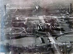 Amazing aerial photo of the rebuilt Crystal Palace prior to its destruction in 1936.