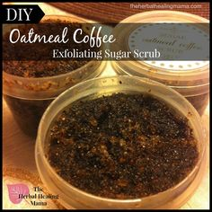 Oatmeal Coffee Sugar Scrub for cellulite and stretch mark
