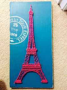 Eiffel Tower string art. Loving me some French decor!