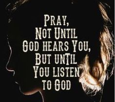 Praying to hear God's voice