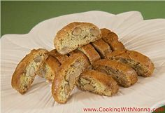 Cantucci Baresi - almond biscotti from Cooking with Nonna Italian Cookies, Italian Desserts, Italian Recipes, Cookie Desserts, Cookie Recipes, Dessert Recipes, Sauerkraut, Sweet Wine, Toasted Almonds