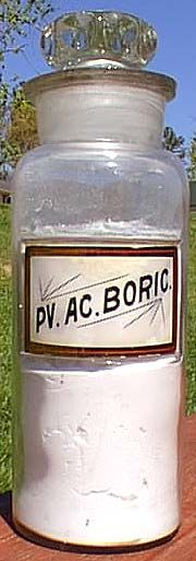 PV AC BORIC LUG Apothecary with contents