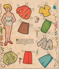 Retro Kids, Retro Baby, Comic Book Paper, Comic Books, Bad Drawings, Newspaper Paper, Antique Dolls, Doll Patterns, Paper Dolls