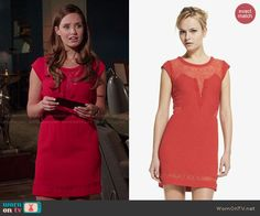 The Kooples Lace Trim Crepe Sheath Dress worn by Merritt Patterson on The Royals