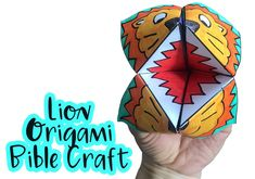 This lion origami Bible craft is a fantastic asset to any lesson on Daniel in the Lion's Den - kids will love taking this Bible craft home! Sunday School Kids, Sunday School Activities, Church Activities, Sunday School Crafts, Youth Activities, Bible School Crafts, Bible Crafts For Kids, Bible Lessons For Kids, Vbs Crafts