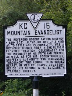 Foothills of the Great Smoky Mountains: Robert Sheffey, Mountain Evangelist