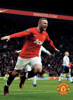 Wayne Rooney of Man Utd in Man Utd Crest, Wayne Rooney, Manchester United, The Unit, Football, Baseball Cards, Sports, Men, Hs Football