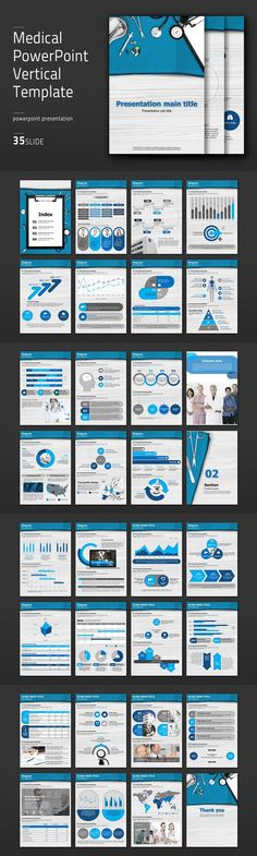 Medical PowerPoint Vertical Template. PowerPoint Templates. $41.00