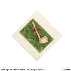 Irish Pipe St. Patrick's Day Paper Napkin