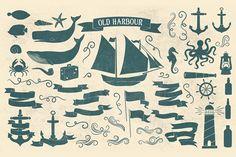 Old Harbour vintage font collection - Script