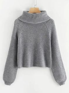 Shop Plus Rolled Neck Raglan Sleeve Sweater online. SHEIN offers Plus Rolled Neck Raglan Sleeve Sweater & more to fit your fashionable needs. Kinder In Not, Plus Size Pullover, Plus Size Sweaters, Grey Fashion, Fashion Fashion, Vintage Fashion, Sweater Fashion, Roll Neck, Woman Outfits