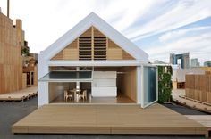 Open House with Condensed Core   Architect Magazine   Shigeru Ban Architects, Tokyo, Japan, Exhibit, House Vision 2