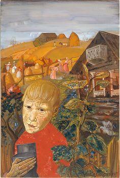 1923 SERGEI ESENIN AS A YOUTH Boris Grigoriev (1886, Rybinsk, near Moscow, Russia ~ 1939, Cagnes-sur-Mer, France)
