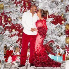 Steve and Marjorie Harvey's Glamorous Holiday Photos - Essence Steve Harvey Family, Lori Harvey, Celebrity Couples, Celebrity Style, Majorie Harvey, The Lady Loves Couture, Black Celebrities, Celebs, Fifties Fashion