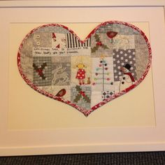 For my granddaughter Lottie, Christmas 2014 Christmas 2014, Christmas Ideas, Christmas Crafts, Christmas Tree, Patchwork Heart, Needlepoint, Fabric Crafts, Sewing Projects, Applique
