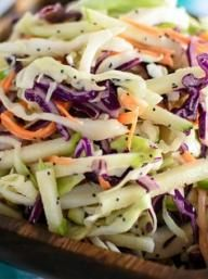 Apple Cole Slaw with Poppy Seed Dressing | KitchenDaily.com