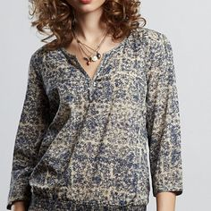 John Robshaw Anne Printed Top - Sale - Lucky Brand Jeans