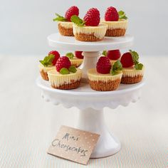 Mini cheesecakes - I made these and they were a huge hit! Skip the muffin pan and make using foil liners on a cookie sheet - much easier and they come out looking better. YUM!