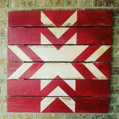 """A bright red and winter white Nordic Star barn quilt that is perfect for the holidays. It comes in three sizes (44"""" - $235.00 33"""" - $185...."""