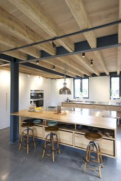 Homes - Natural Structures Warehouse Living, Modern Barn House, Design Your Own Home, Natural Structures, Steel Beams, Pole Barn Homes, Tiny House Cabin, Steel House, House Extensions