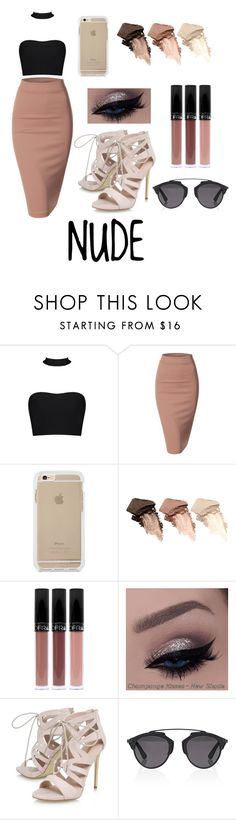 """Sexy nude"" by narjissbh on Polyvore featuring Doublju, Urban Decay, Carvela, Christian Dior, Dior, trending, nude and newchic"