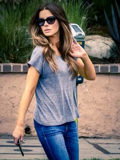 Kate Beckinsale...I mean she's perfect. Love her hair here.