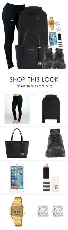 """""""Nike , Michael Kors and Casio"""" by camrzkn ❤ liked on Polyvore featuring NIKE, Michael Kors, Topshop, Casio, Asprey, women's clothing, women, female, woman and misses"""