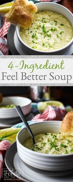 This 21 Day Fix 4-Ingredient Feel Better Soup Recipe is healthy, easy, quick and SO much simpler to make than chicken noodle! Total comfort food!
