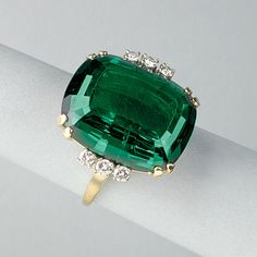 I have a very similar ring in the store. It has 2 quarter carat side stones versus the 3 . Modern Jewelry, Vintage Jewelry, Fine Jewelry, Jewelry Rings, Jewelery, Jewelry Accessories, Tourmaline Jewelry, Tiffany Jewelry, Gems And Minerals