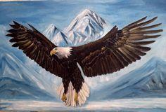 Kartal, yağlı boya, tablo, kuş, beşiktaş Antalya, Istanbul, Birds, Instagram Posts, Nature, Bald Eagles, Painting, Animals, Tattoos