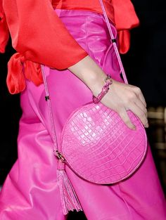 Pink on pink, Ferragamo.