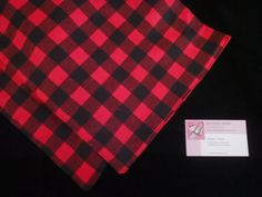 Red & Black Buffalo Plaid Flannel Table Runner - Napkins - Table Topper - Table Cloth