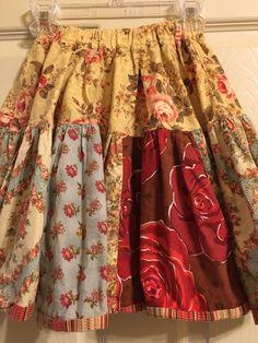 MATILDA JANE Platinum Rose Print Skirt  Size 8 #MatildaJane #DressyEveryday