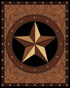 The Legends Ranch Star rug is a popular western theme rug. Affordably priced, this rug features a western star, as the focal point, that is encircled by studs and sits on top of a paisley background. The contrasting border features more studs and nicely frames the rug. This rug is finished with a 4 side over-lock serge edge for a clean, crisp look