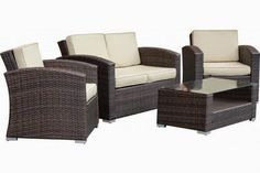 Discount Special Sale off 58% for Outdoor Furniture Sofa 4pcs Luxury Patio Set - Outdoor Patio Furniture Sofa