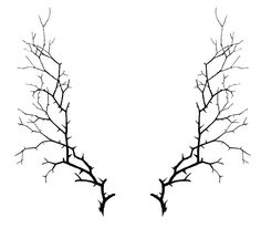 Click on Image to Enlarge This is an interesting Silhouette that makes a great Frame for Halloween Projects! Shown above are 2 Thorny Branches, from a late 1800's Antique Poetry Book. Kind of Spooky looking don't you think?!!