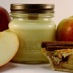 Wood Wick Soy Jar Candle Baked Apple Pie Scented 8 oz Mason Jar   blackberrythyme - Candles on ArtFire