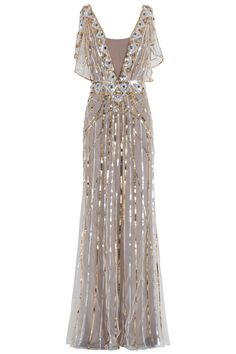 This would be great for a Great Gatsby / Artdeco party- Sequin Gown By TEMPERLEY LONDON @ http://www.boutique1.com/