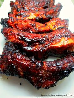 Chinese Spareribs (baked in the oven): Bacon, Butter, Cheese & Garlic:
