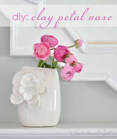 clay petal vase from Centsational Girl - awesome!