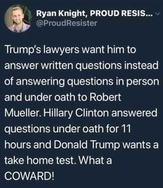 And now Traitor Trump refuses to speak with Mueller. This is not how an innocent man behaves. #WhoKnewWhatAndWhen