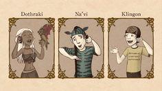 Sind die Sprachen der Elben, Klingonen, Dothraki and Na'vi richtige Spra...