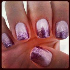 Light lavender/silver purple ombre gel mani - by Sophia
