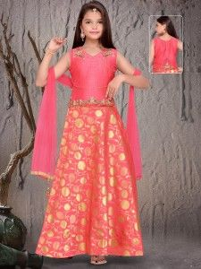 Shop Classy cream and pink silk lehenga choli online from G3fashion India. Brand - G3, Product code - G3-GCS00053, Price - 4265, Color - Cream, Pink, Fabric - Silk,