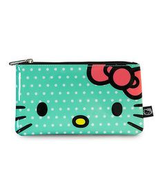 Love this Green & White Polka Dot Hello Kitty Pencil Case on #zulily! #zulilyfinds