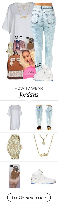 """""""Skew"""" by renipooh on Polyvore featuring Off-White, Juicy Couture, October's Very Own and Gorjana"""