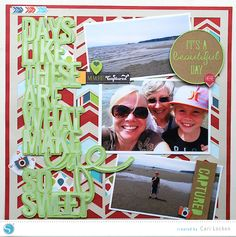 Silhouette America Blog | Days Like These | Scrapbook Layout