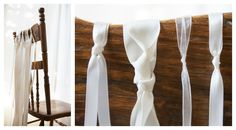 Tied Ribbon Wedding Chairs