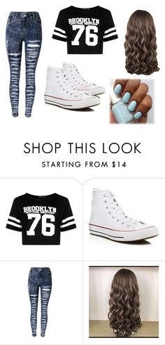 """swag"" by lc112439 on Polyvore featuring Boohoo and Converse"