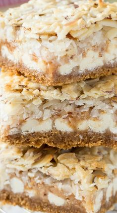 7th Heaven Bars ~ Toffee, coconut and Almonds from Diamond Nuts are a perfect combination to make these taste like pieces of heaven!